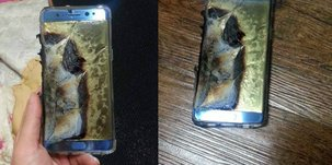 Samsung Galaxy Note 7 dont la batterie a explosé. Via Baidu.