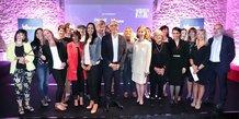J.-C. Gallo (Objectif-La Tribune), entouré des lauréates, partipant(e)s et partenaires de cette 1e édition de Women For Future