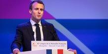 Emmanuel Macron, lors du 42e congrès de la Mutualité française à Montpellier, le 13 juin 2018