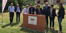 Pose de la 1e pierre de 12 logements locatifs à vocation intergénérationnelle par Un Toit Pour Tous à Aubais (30)