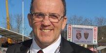 Thierry Emin, président de l'Union Sportive Oyonnax Rugby