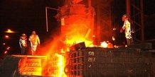 acier four sidérurgie