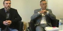 Patrick Gilli, président de l'Université Montpellier 3, à droite