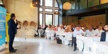 A. Deljarry, président de la CCI 34, en ouverture du séminaire tenu le 17 septembre