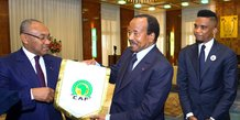 Paul Biya Samuel Eto'o Ahmad Ahmad CAF CAN Cameroun 2019