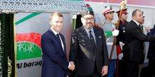 Mohammed VI en compagnie d'Emmanuel Macron