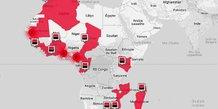 Société Générale Afrique carte