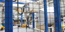 IRT Jules Verne, expérimentation d'un robot à câble, Nantes