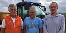 La SODEL dans l'Aude : Robert Broto, membre fondateur, Bruno Parolin, administrateur, et Daniel Sendrous, président.