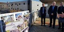 Thierry Beaudet, président national de la Mutualité Française, et René Game, président du groupe Languedoc Mutualité et d'Eovi Mcd Santé et Services, le 14 décembre 2018 à la clinique Beau Soleil de Montpellier