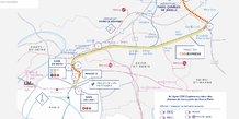 CDG Express, tracé, plan, future ligne, Paris-aéroport de Roissy-Charles-de-Gaulle, transports en commun, RER B,
