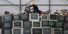 déchets, téléviseurs, ordinateurs