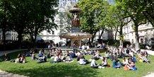 Paris, espaces verts, Louvois
