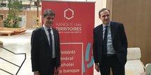 Thierry Ravot, directeur Occitanie de la CDC, et Olivier Sichel, président de la Banque des Territoires, lancent le dispositif au sein de la Halle Tropisme