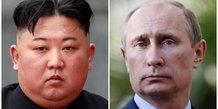 Poutine, Kim Jong-Un, Russie, Corée du Nord