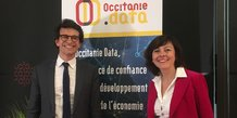 Bertrand Monthubert, président du CA d'Occitanie Data, et Carole Delga, présidente de Région