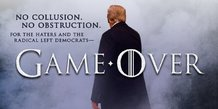 Trump Twitter, poster, affiche de film, Game of Thrones, no collusion, no obstruction