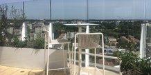 Le rooftop se trouve au 17e étage de l'Arbre Blanc