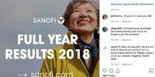 Sanofi Instagram CAC 40 réseaux sociaux