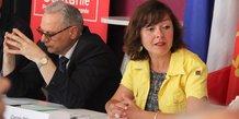 Carole Delga, présidente de Région, entourée de ses partenaires dans l'OPLC