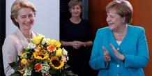 Leyen, Merkel