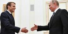 Macron souhaite reenclencher une dynamique avec poutine avant le g7