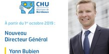 Yann Bubien nouveau DG du CHU de Bordeaux
