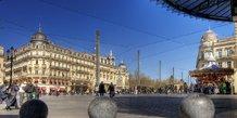 Montpellier, ville, place de la Comédie