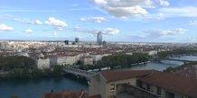 Lyon vue generale rive Rhone