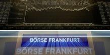 Les bourses europeennes evoluent en baisse en debut de seance