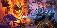 Blizzard, Hearthstone, jeu video,  Battlegrounds Key Art