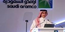 Yasser al-Rumayyan, président de Saudi Aramco, durant une conférence de presse le 3 novembre 2019