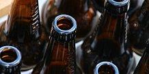 Bouteille de biere à recycler