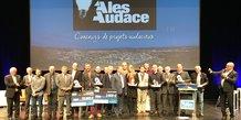 Les organisateurs, lauréats et partenaires d'Alès Audace 2019