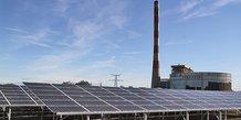 Inauguration de la centrale photovoltaïque d'Aramon, dans le Gard