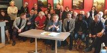 Entouré de nombreux élus sortants, Max Lévita dresse le bilan d'un mandat à la Ville et à la Métropole de Montpellier