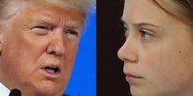 Opposition Donald Trump/Greta Thunberg au forum de Davos