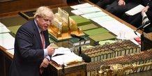 Boris Johnson, Premier ministre britannique au Parlement de Londres, le 22 janvier 2020
