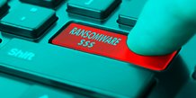 Cybersécurité, ransomware, illustration, clavier, ordinateur, piratage, hacker