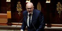 Laurent Pietraszewski, secrétaire d'État aux retraites, lors d'un débat à l'Assemblée nationale à propos de la réforme des retraites, le 17 février 2020