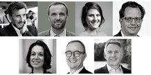Sept des huit candidats aux municipales 2020 à Montpellier