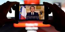 Coronavirus : allocution télévisée Emmanuel Macron, le 16 mars 2020 depuis le palais de l'Elysée