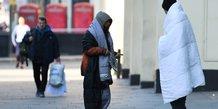 Royaume-Uni, Londres : SDF, sans-abri, épidémie de coronavirus