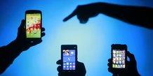 smartphones téléphones mobiles