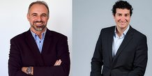 Christophe Gardent (Président de Ach@t Solutions) et Jérémy Certoux (DG de Agysoft)