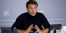 Macron celebre l'esprit de solidarite du 1er-mai
