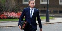 Le ministre britannique des transports Grant Shapps, le 15 septembre 2020 à Downing Street à Londres, en Grande-Bretagne.