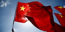 drapeau chinois (chine, xi jinping)