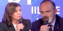 Anne Hidalgo et Édouard Philippe lors du Sommet du Grand Paris, le 29 septembre 2020