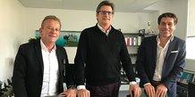 Les trois cofondateurs de Septeo à Montpellier